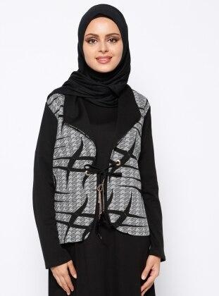 Şal Yaka Ceket - Siyah She Mood
