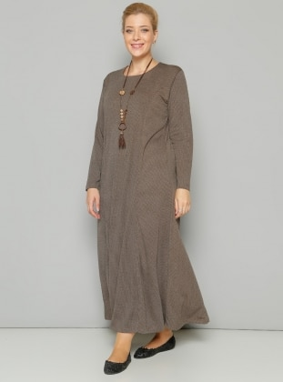 Kolyeli Elbise - Vizon Shine Collection