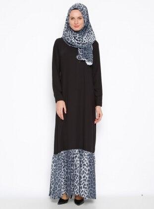 Şal&Elbise İkili Takım - Siyah