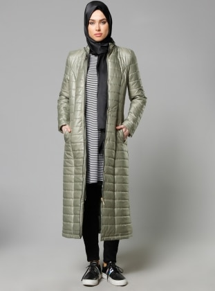 Zippered Outerwear - Khaki