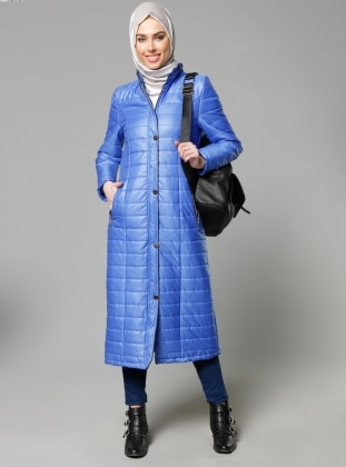 Zippered Outerwear - Saxe