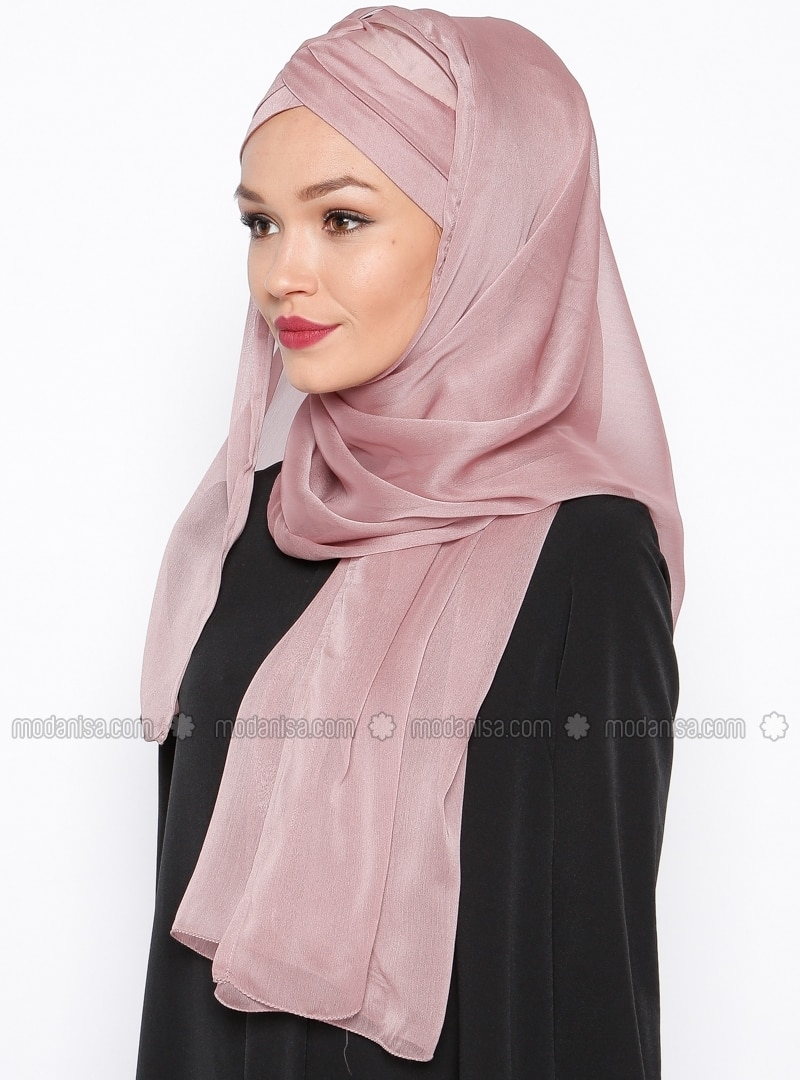 instant scarf pink tulipa turban