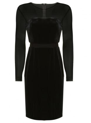 Kadife Abiye Elbise - Siyah Dans Giyim