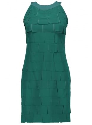 Şifon Parçalı Abiye Elbise - Yeşil Dans Giyim