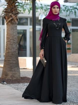 Simla Elbise - Siyah