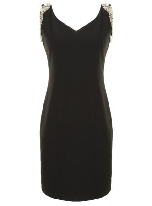 Dans Giyim Taşlı Abiye Elbise - Siyah