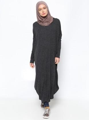 Yarasa Kollu Tunik - Siyah