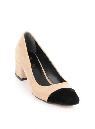 Ayakkabı - Bej/siyah - BAMBİ AYAKKABI