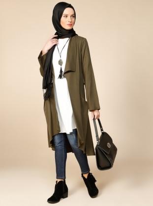 Tunik & Ceket İkili Takım - Haki Puane