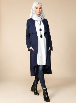 Tunik & Ceket İkili Takım - Lacivert Puane