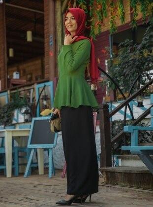 Şimal Bluz - Yeşil