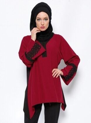 Garnili Tunik - Bordo Appleline