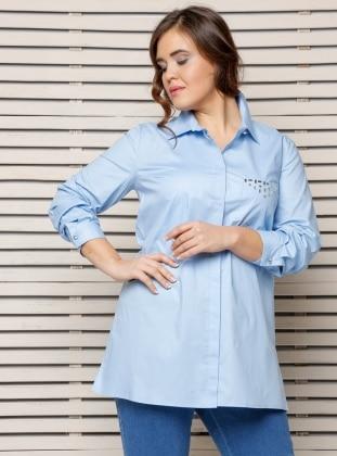 Plus Size Tunic - Blue - Alia 245478