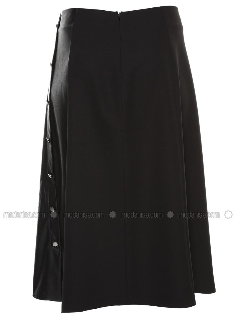 jupe en cuir noir alia. Black Bedroom Furniture Sets. Home Design Ideas