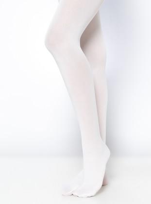 Mycro 80 Bayan Külotlu Çorap - Beyaz Daymod