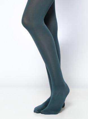 Mycro 80 Bayan Külotlu Çorap - Nefti Yeşil Daymod