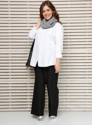 Alia Bol Paça Pantolon - Siyah