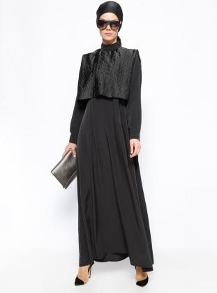Tuva Cep Detaylı Elbise - Siyah