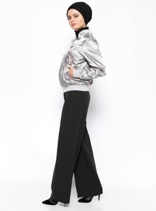 Kemerli Pantolon - Siyah İroni