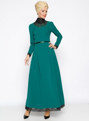 Muslim Evening Dress - Green - MODAYSA 247273