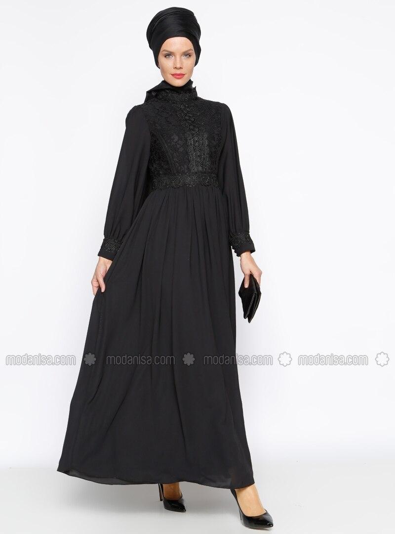 hidschab abendmode schwarz modaysa. Black Bedroom Furniture Sets. Home Design Ideas