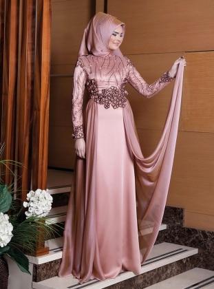 Bakır Abiye Elbise - Bakır Lâl By Hilal