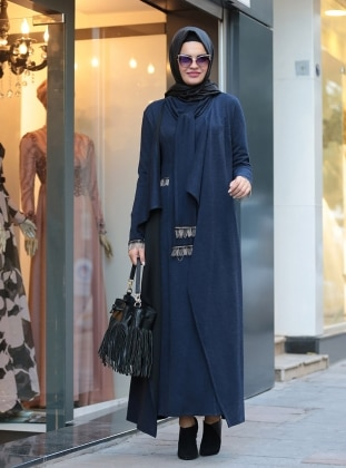Defne Elbise&Hırka Takım - Lacivert
