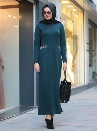 Defne Elbise&Hırka Takım - Yeşil