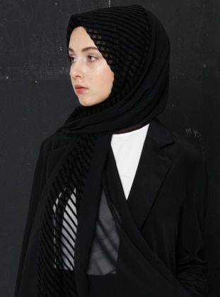 Shawl - Black -  Eşarp
