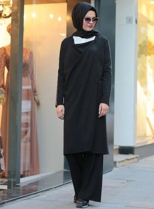 Pera Hırka&Pantolon İkili Takım - Siyah