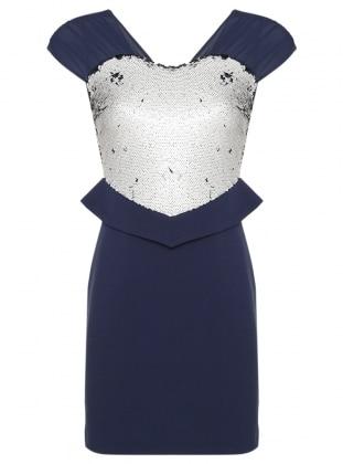 Muslim Evening Dress - Navy Blue - Appleline Abiye 247579