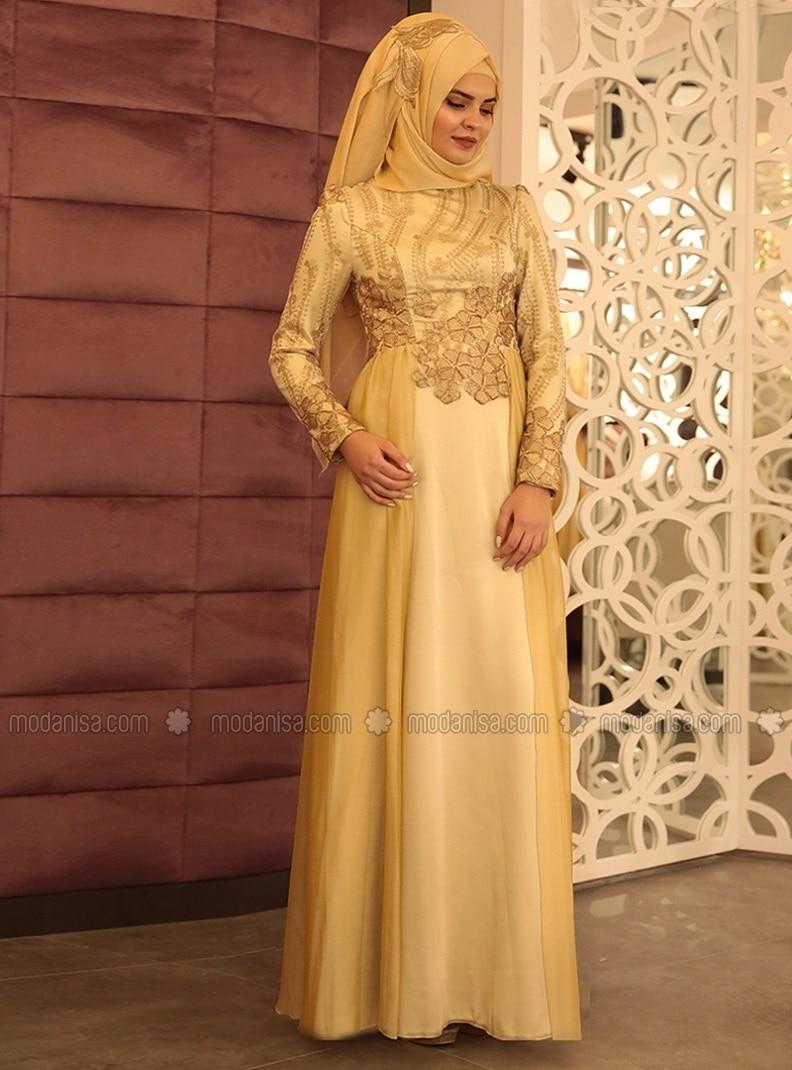 Evening Dress - Gold - Lâl By Hilal
