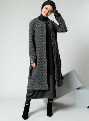 Kolsuz Elbise - Siyah