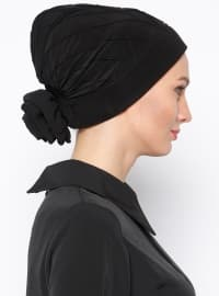 Pinless - Plain - Black - Instant Scarf