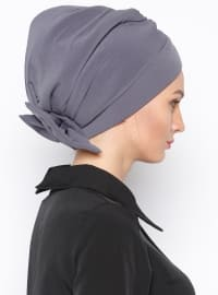 Pinless - Plain - Gray - Instant Scarf