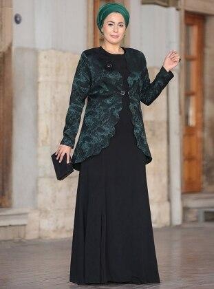 Bera Abiye Ceket&Elbise İkili Takım - Haki Nesrin Emniyetli