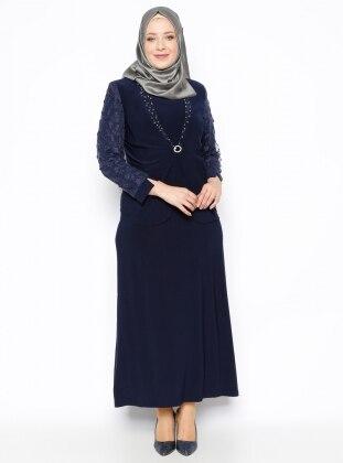 Ceket&Elbise İkili Abiye Takım - Lacivert Arıkan