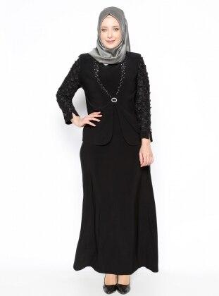 Ceket&Elbise İkili Abiye Takım - Siyah Arıkan