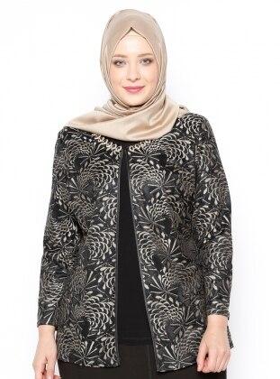 Kolsuz Bluz&Ceket İkili Abiye Takım - Siyah