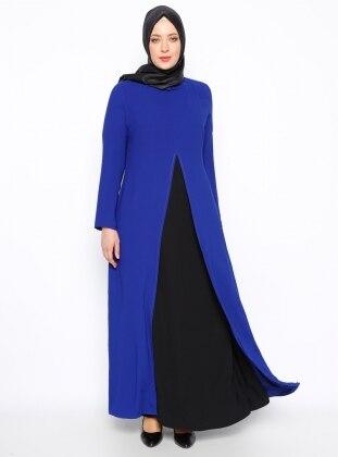 Sevilay Giyim A Pile Detaylı Elbise - Saks