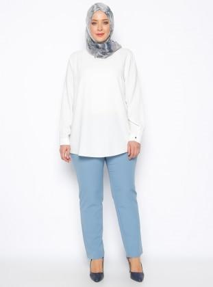 Boru Paça Pantolon - Bebe Mavi Bufin