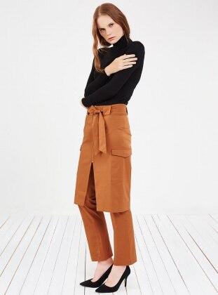 Etek&Pantolon İkili Takım - Kahverengi Store Wf