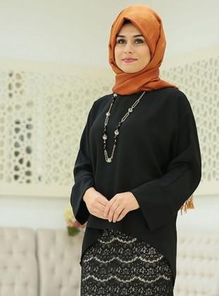 Mira Bluz - Siyah SomFashion
