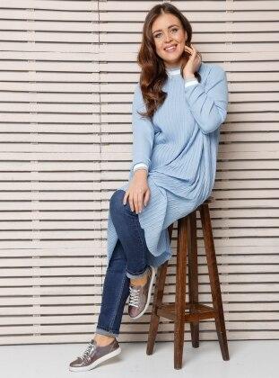 Plus Size Tunic - Blue - Alia 250922
