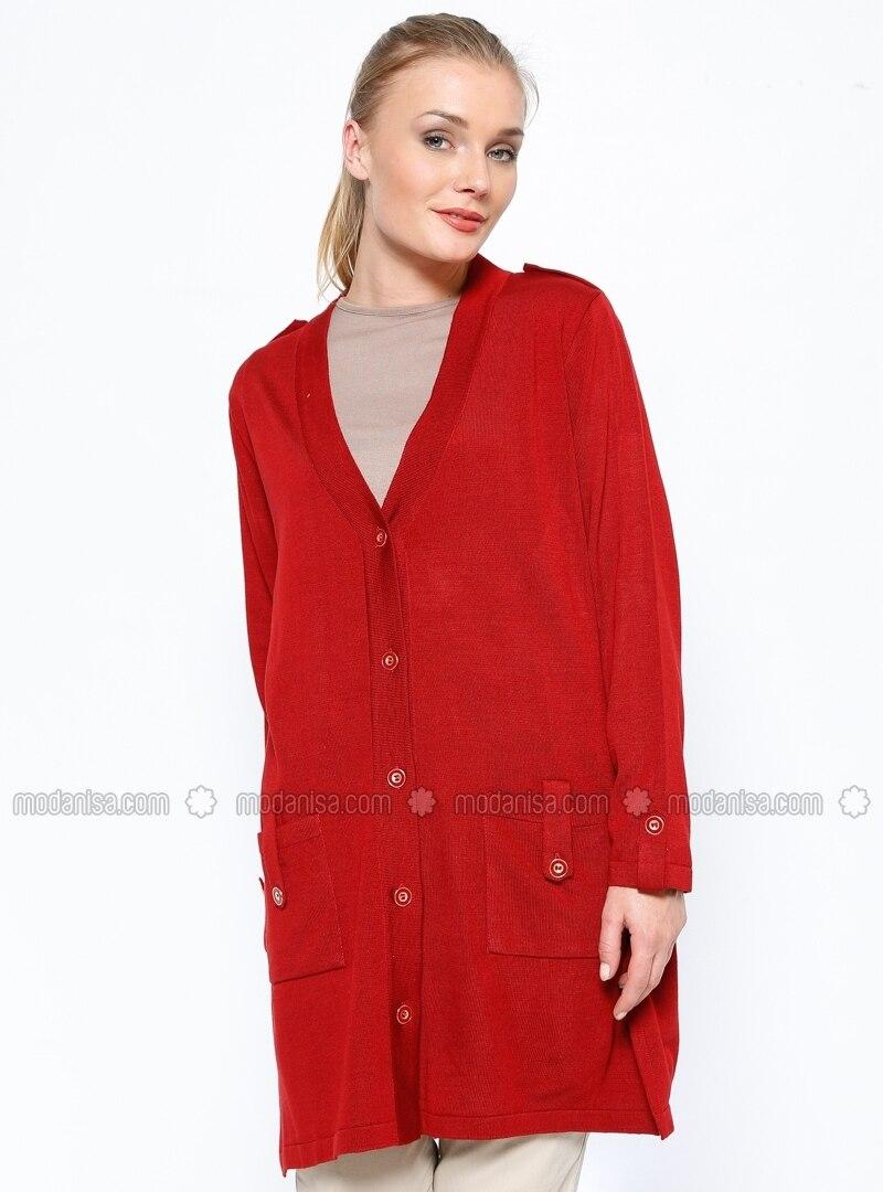 cf488e22b70 Cardigan - Red. Fotoğrafı büyütmek için tıklayın