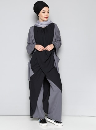 Black - Gray - Tracksuit Top - Miorespiro