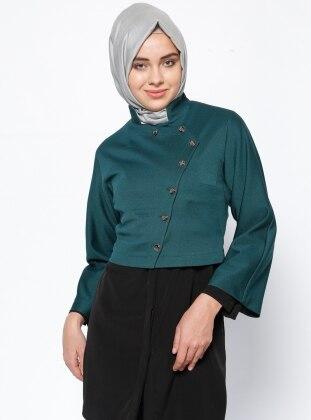 Düğmeli Ceket - Yeşil