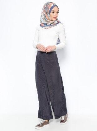 Geniş Paça Pantolon - Lacivert İnşirah