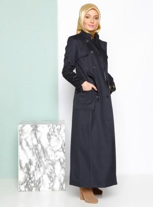 Coat - Navy Blue