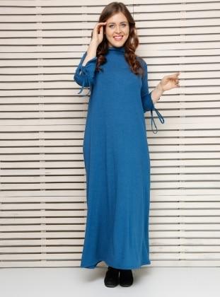 Kolları Bağcıklı Elbise - İndigo Alia